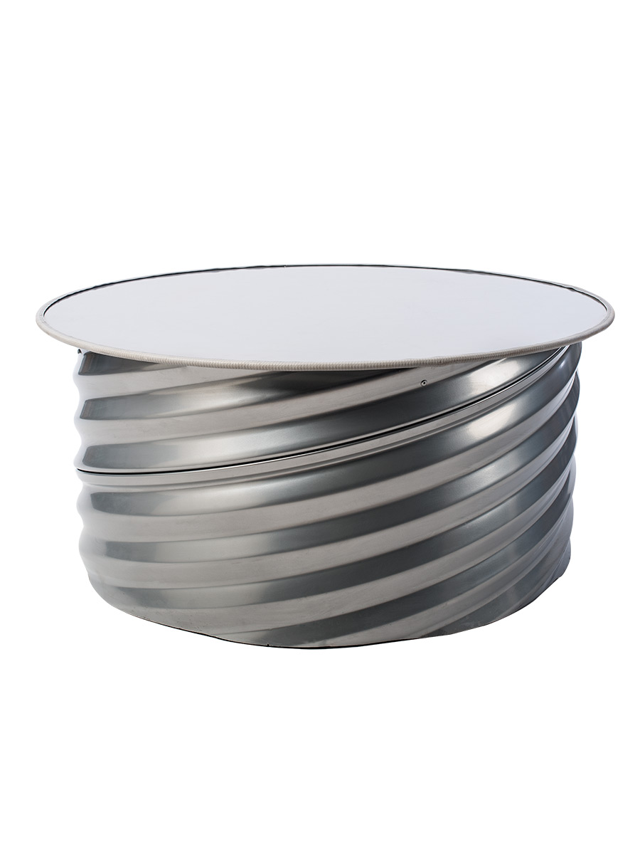 Table basse bar design : Baron steel industrial design furniture